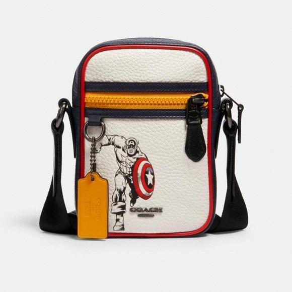 NWT Coach Captain America Marvel Crossbody Bag